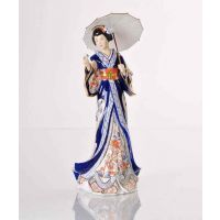 madam butterfly, porcelaine statue