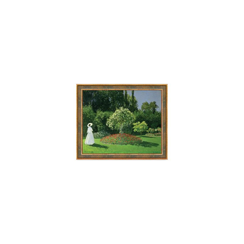 Woman In Garden Of Sainte Adresse Reproduction Painting Claude