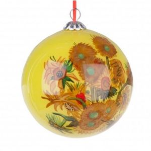 Glass ornament Sunflowers