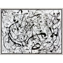 Jackson Pollock Picture Number 14 Gray1948 in frame